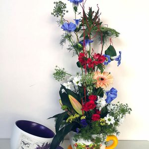 tazas de flor de temporada